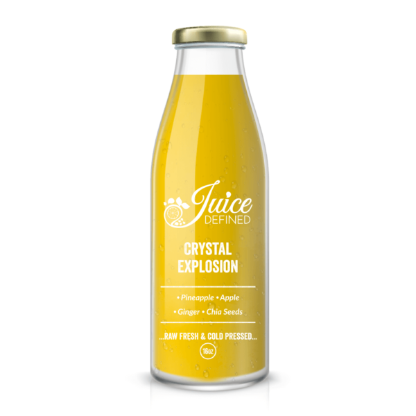 Cold Pressed Fresh Juice with pineapple & red apple.