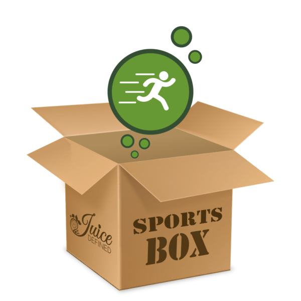 Sports Box, Image of Box that contains 6 different Juices for Detox